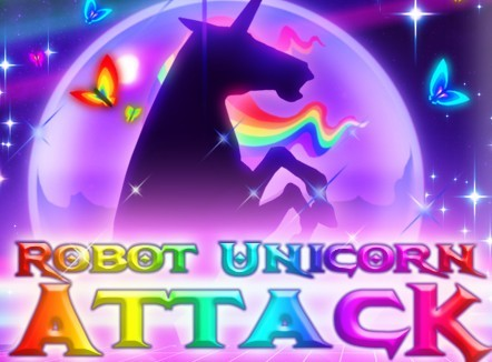 Robot Unicorn Attack title screen